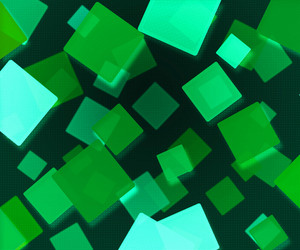 Dark Green Abstract Squares Background