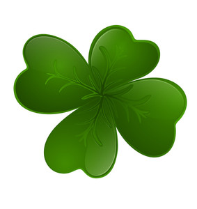 Dark Green Shamrock Vector