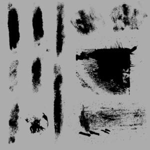 Dark Grunge Strokes And Overlays Vector Elements