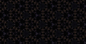 Dark Kaleidoscope Floral Pattern