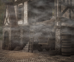 Dark Medieval Photographic Background