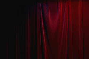 Dark Red Curtain
