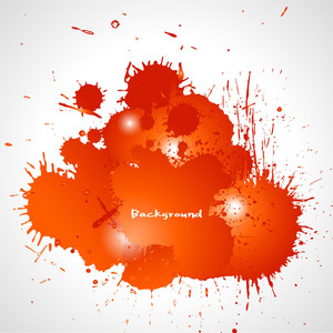 Dark Red Grunge Splashes Vector