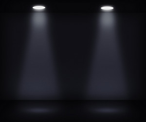 Dark Room With Two Spotlights