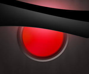 Dark Shapes Red Orb Background