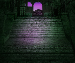Dark Stairs Background