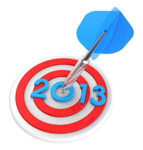 Dart Hitting Target - New Year 2013.