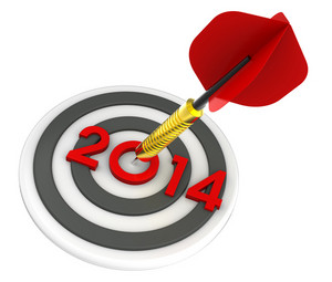 Dart Hitting Target - New Year 2014.