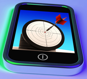 Dartboard On Smartphone Shows Effective Shooting