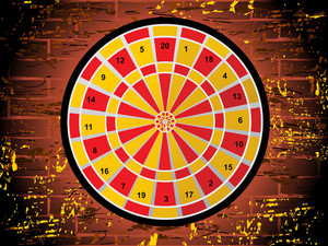 Dartboard On White Background
