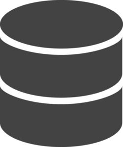 Data Base Glyph Icon