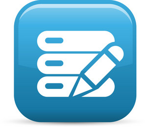 Data Stack Edit Elements Glossy Icon