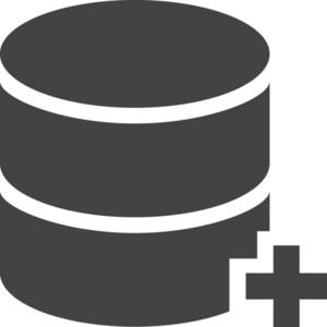 Database Add Glyph Icon