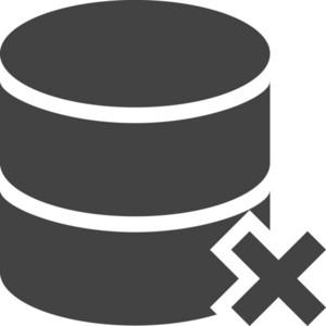 Database Delete Glyph Icon