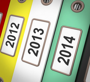 Date Files Shows New Year And Organizing Business