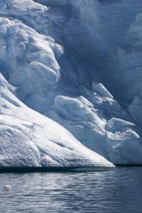 Close up of a sunlit iceberg