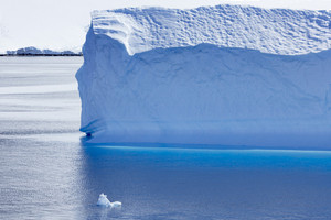Close up of a sunlit iceberg