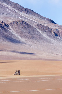Light snow in a sandy desert