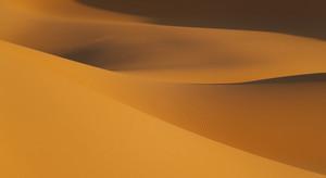 Sunlit sand dunes in the desert