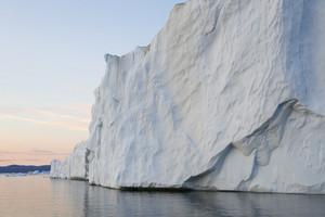 Iceberg at dusk