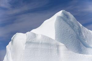 Close up of a sunlit iceberg peak