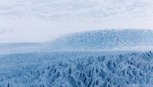 Close up of an intricate glacier