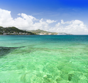 Clear, tropical waters along the coast