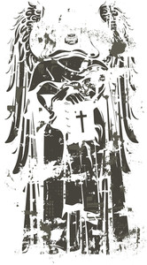 Dead Priest With Grunge Vector T-shirt Design