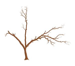 枯れ木デザインエレメント