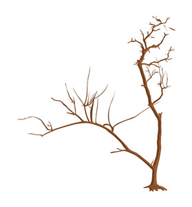 Dead Tree Vector Art