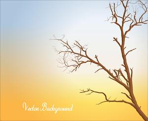 Dead Tree Vector Banner
