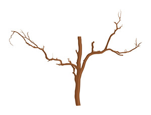 Dead Tree Vector Element