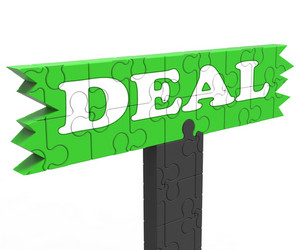 Deal Means Bargain Promotion Or Agreement
