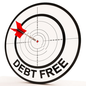 Debt Free Target Shows Economic Financial Success