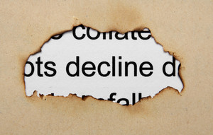 Decline Text On Paper Hole