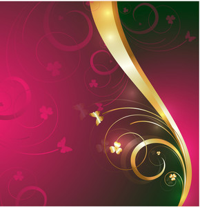 Decor Golden Ornamental Flourish Background