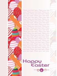 Decorated Egg Pattern Card For Celebration