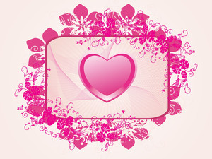Decorated Heart Frame With Floral Pattern