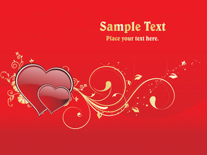 Decorated Heart With Sample Text