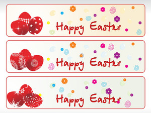Decorated Red Egg Banner