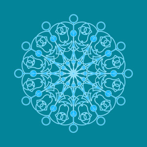 Decorative Art Snowflake