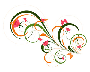 Decorative Artistic Floral Designs