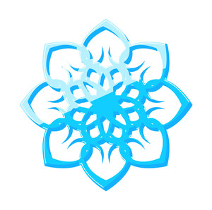 Decorative Artistic Snowflake