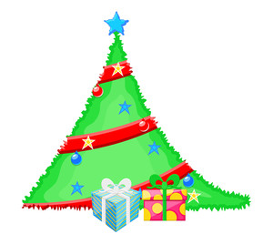 Decorative Christmas Tree With Gift Boxes
