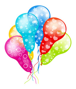 Decorative Colorful Balloons Collection