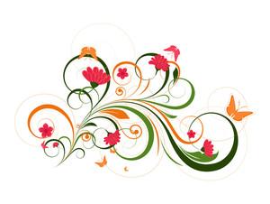 Decorative Colorful Flora Designs