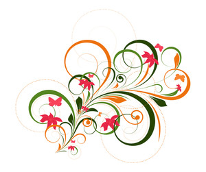 Decorative Colorful Flourish Art Design