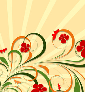 Decorative Colorful Flourish Background