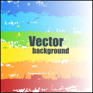 Decorative Colorful Splash Vector Background