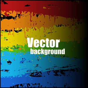 Decorative Colorful Striped Splashes Vector